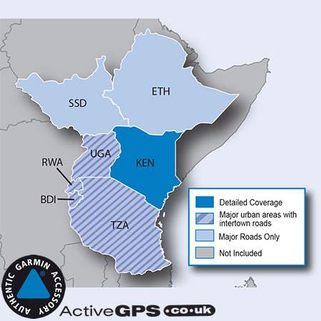 Garmin City Navigator NT 2019 Eastern Africa sat nav map SD card