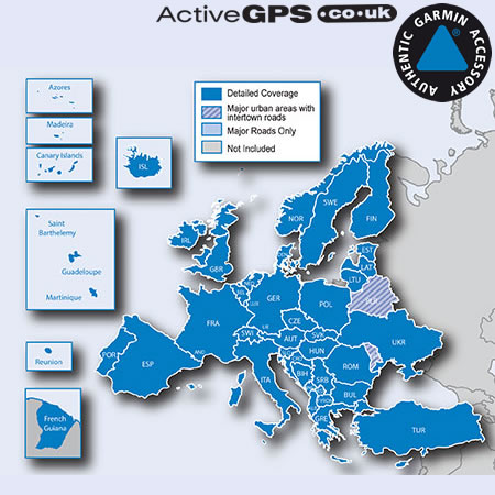 Garmin City Navigator NT 2020 Europe sat nav maps on SD card