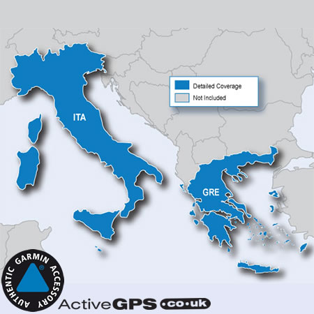 Garmin City Navigator NT 2020 Italy and Greece maps on SD