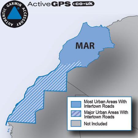 Garmin City Navigator NT Morocco sat nav map on SD card