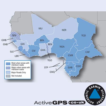 Garmin City Navigator NT 2020 Western Africa sat nav map SD ... on