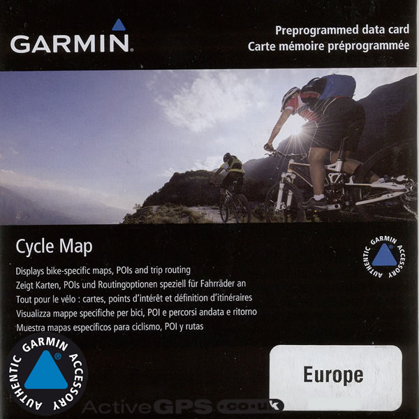 Garmin Europe Cycle Map on microSD/SD card for Garmin Edge