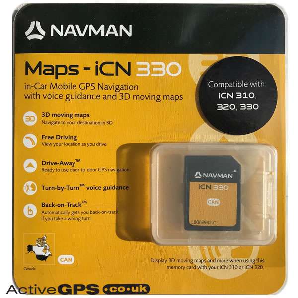 Navman iCN 310, 320, 330 2006 Maps of Canada SD card - AA005269 on map for th, map for ma, map for wv, map for ri, map for illinois, map for az, map for au, map for la, map for ny, map for nv, map for canada, map for tx, map for future, map for sudan, map for pa, map for ga, map for co, map for nc, map for mo,