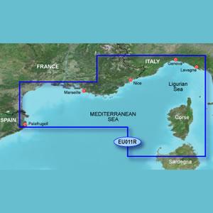 Garmin Bluechart G2 Hd France South Coast And Corsica Charts