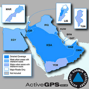 Garmin City Navigator NT Middle East and Northern Africa SD