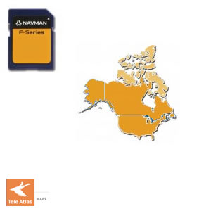 Navman F20 Sat Nav Maps of USA and Canada on SD card on