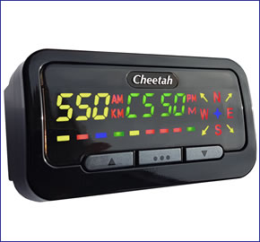 Cheetah c550 GPS Speed Camera Detector
