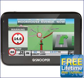 Snooper S2700 Syrius Pro Europe Car Sat Nav with FREE
